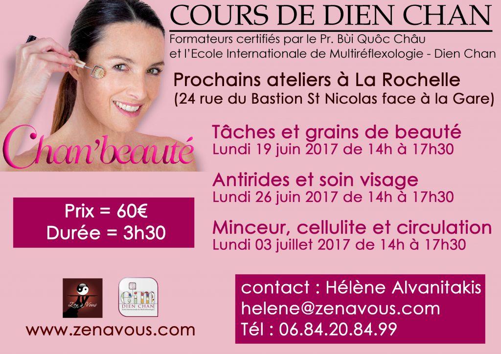 Ateliers Chan'beauté en juin à La Rochelle
