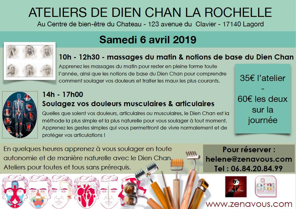 Ateliers de Dien Chan le samedi 6 avril 2019