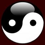 Logo Yin Yang LN FOND MARRON