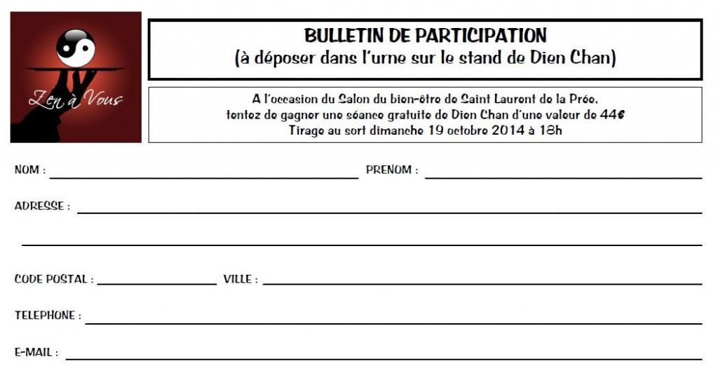 Bulletin de participation