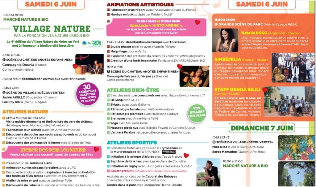 Programme 6 juin